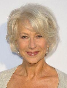 Helen Mirren-Classy Celebrity Hairstyles for Women with Gray Hair