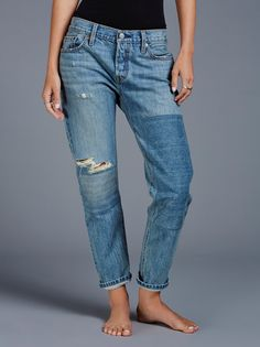 Levi's Beyond Blue Levi's 501 CT Patched at Free People Clothing Boutique