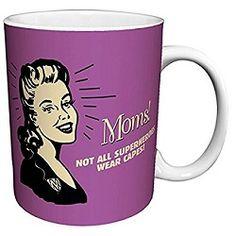 Moms Not All Superheroes Wear Capes Retro Coffee Mug