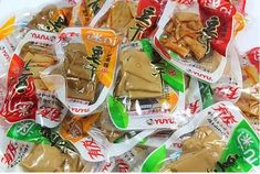 Helen Ou Specialty: Youyou Japanese Pickled Pepper Dried Tofu Four Flavors (Five Spices, Pickled Pepper, wild pepper,soysauce) Bulk Package Japanese Pickles, Japanese Food, Dried Tofu, Hello Panda, Roasted Red Pepper Pasta, Asian Snacks, Vegan Breakfast, Snack Recipes