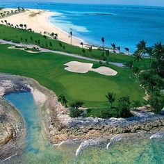 Who wants to play this golf course? A beautiful golf course in the Caribbean Famous Golf Courses, Golf Training, Golf Humor, Golf Tips, Great Places, Caribbean, Around The Worlds, The Incredibles, Play