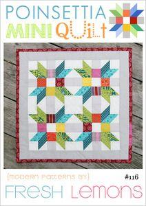 Image of Poinsettia Mini Quilt Pattern - PDF