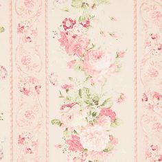 Mary Rose Garden Vintage Pink Roses Wallpaper Stripe Hancocks Of Paducah
