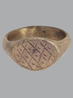 Ancient Byzantine Mens Ring C.600-900A.D. Size 7 1/2 (17mm)