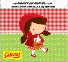 Rotulo Baton Garoto Chapeuzinho Vermelho