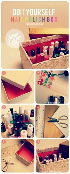 A way of organizing nail polish!�