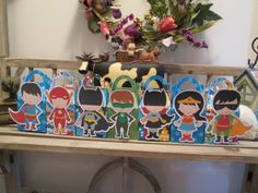 A Gang of Superheroes Gable Boxes Set of 14 by zbrown5 on Etsy, $16.80