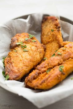The best oven fried chicken -- with tons of KFC flavor and less of the grease! SO much healthier!