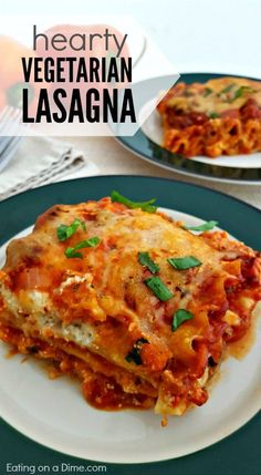 Try this easy vegetarian lasagna recipe for your next dinner. This hearty meatless lasagna recipe is so good you won't even miss the meat. This is the best veggie lasagna recipe ever. You will love this easy vegetable lasagna recipe! Vegetable Lasagna Recipes, Vegetable Lasagne, Lasagne Recipes, Easy Lasagna Recipe, Easy Veggie Lasagna, Meat And Veggie Lasagna Recipe, Sweet Potato Lasagna Recipe, Healthy Lasagna Recipes, Lasagna Food