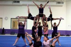 acrobatic stunt from Asbury Tumbling Team