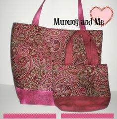 Handmade Christmas Gift for Mom and Daughter..     https://www.etsy.com/listing/239947114/tote-bag-mummy-and-me-new-handcrafted