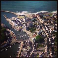 Castletown from the air, Isle of Man Manx, Isle Of Man, My Heritage, Great Britain, Great Places, Countryside, Seaside, England