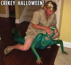 Steve Irwin and a Crocodile -Best-Ever Halloween Costume