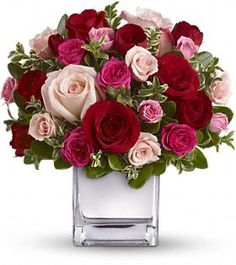 Teleflora's Love Medley #Bouquet with Red #Roses  http://www.teleflora.com/flowers/bouquet/telefloras-love-medley-bouquet-with-red-roses-388165p.asp