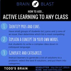 Active learning...great for engagement, thinking, and memory. Also curbs almost all behavior problems due to increased engagement.