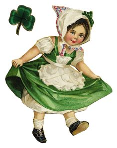 Free Graphic: Little Vintage Irish Girl...she's great for all kinds of projects, so cute!