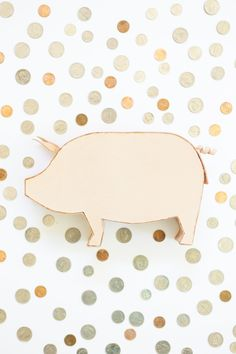 free template DIY Leather Piggy Bank