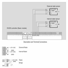 Dorma ES200 Wiring Diagram One Light Barrier Connection