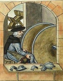 Armour Maker. Landauer Twelve Brother's House manuscript, c15th Century.