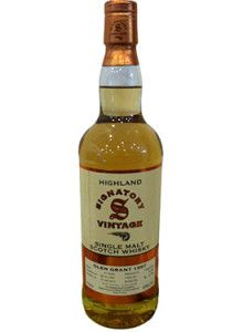 Glen Grant 15 Year Old Single Malt Scotch Whisky (Signatory Bottling).  Only 386 bottles of this single malt #scotch #whisky, which was matured for over 15 years, were ever produced.   @Caskers