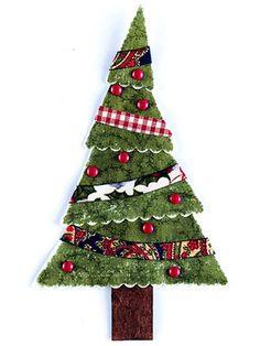 Vintage Christmas Tree Paper-Piecing Pattern
