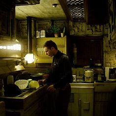 Scene from Blade Runner inside Ennis House.