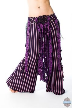 Ready to ship! Bell Bottom Pants, Bell Bottoms, High Waisted Palazzo Pants, Tribal Belly Dance, Plum Purple, Dress Codes, Dance Wear, Wide Leg Pants, I Dress