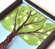 Family Tree Frame Kit Wall Art  Wire Summer by CreativeArtbyME, $55.00