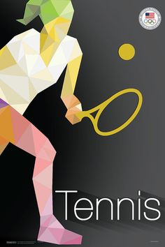 Olympic Tennis Poster Rio 2016 Olympic Poster by TheTravelShop