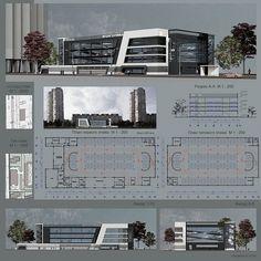 Concept Models Architecture, Retail Architecture, Architecture Presentation Board, Architecture Sketchbook, Commercial Architecture, Architecture Plan, Parking Plan, Parking Building, Architectural Engineering