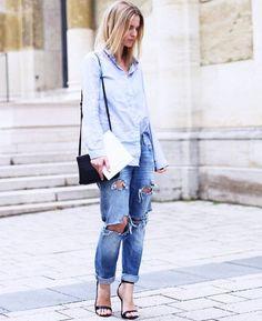 Mija of Mija presents an inspiring denim street style look! Like her outfit?