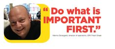 """""""Do what is #important first"""" -Marino Stratigaki GRK Fresh Greek  #leadership #quotes"""