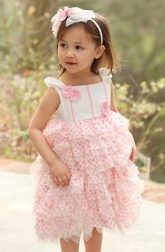 Bunnies Picnic - Isobella and Chloe Heaven Sent Pink Ruffled Dress - Boutique Clothing for Girls and Boys
