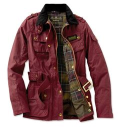 Burgundy Barbour jacket