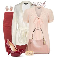 """""""Valentine in Pink, White & Red"""" by lv2create on Polyvore"""
