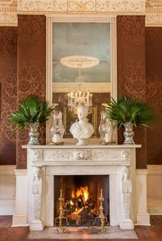 Bedroom fireplace, Magnolia Mound Plantation, Baton Rouge, LA ...