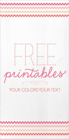 come and get your free printables. (: