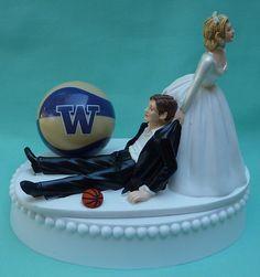Wedding Cake Topper University of Washington Huskies UW by WedSet, $59.99