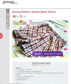 Sewing Pattern: Unisex Boxer Shorts