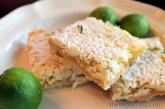 Tequila Lime Coconut Bars