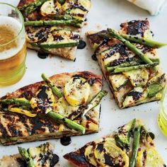 Grilled Vegetable Pizza with Balsamic Reduction Recipe