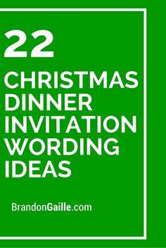 22 Christmas Dinner Invitation Wording Ideas