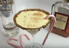 Italian Eggnog Martini - For more delicious recipes and drinks, visit us here: www.TopShelfPours.com