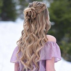 glamorous and timeless wedding hair half up half down hairstyles; wedding hairstyles trendy hairstyles and colors wedding hairstyles half up half down; wedding hairstyles for long hair; Grad Hairstyles, Dance Hairstyles, Easy Hairstyles, Elegant Hairstyles, Hairstyle Ideas, Semi Formal Hairstyles, Curled Hairstyles For Prom, Hair Ideas, Beautiful Hairstyles