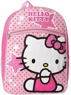 3dbbbcba79 This Hello Kitty Pink Stars Backpack makes going to school fun. Made of 100  percent