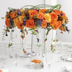 fall wedding flowers | go simple and easy? Use the discarded stems from your wedding flowers ...