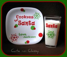Could paint a cup to put milk in with the cookie plate for Santa every year! Genius!