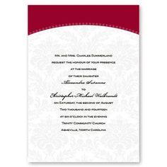 Classic Arch Wedding Invitations by TheAmericanWedding.com