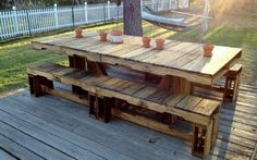 The Useful of Pallet Deck Furniture Ideas