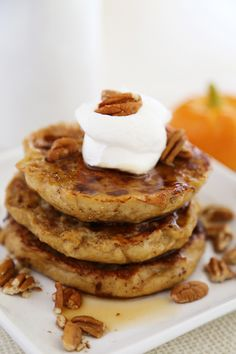 Pumpkin Vanilla English Muffin French Toast: Whip up the flavors of fall whenever a craving comes with this recipe from our friend Comfort of Cooking. French toast batter, fresh spices and a hint of vanilla mixed with Thomas' Pumpkin Spice English Muffins.